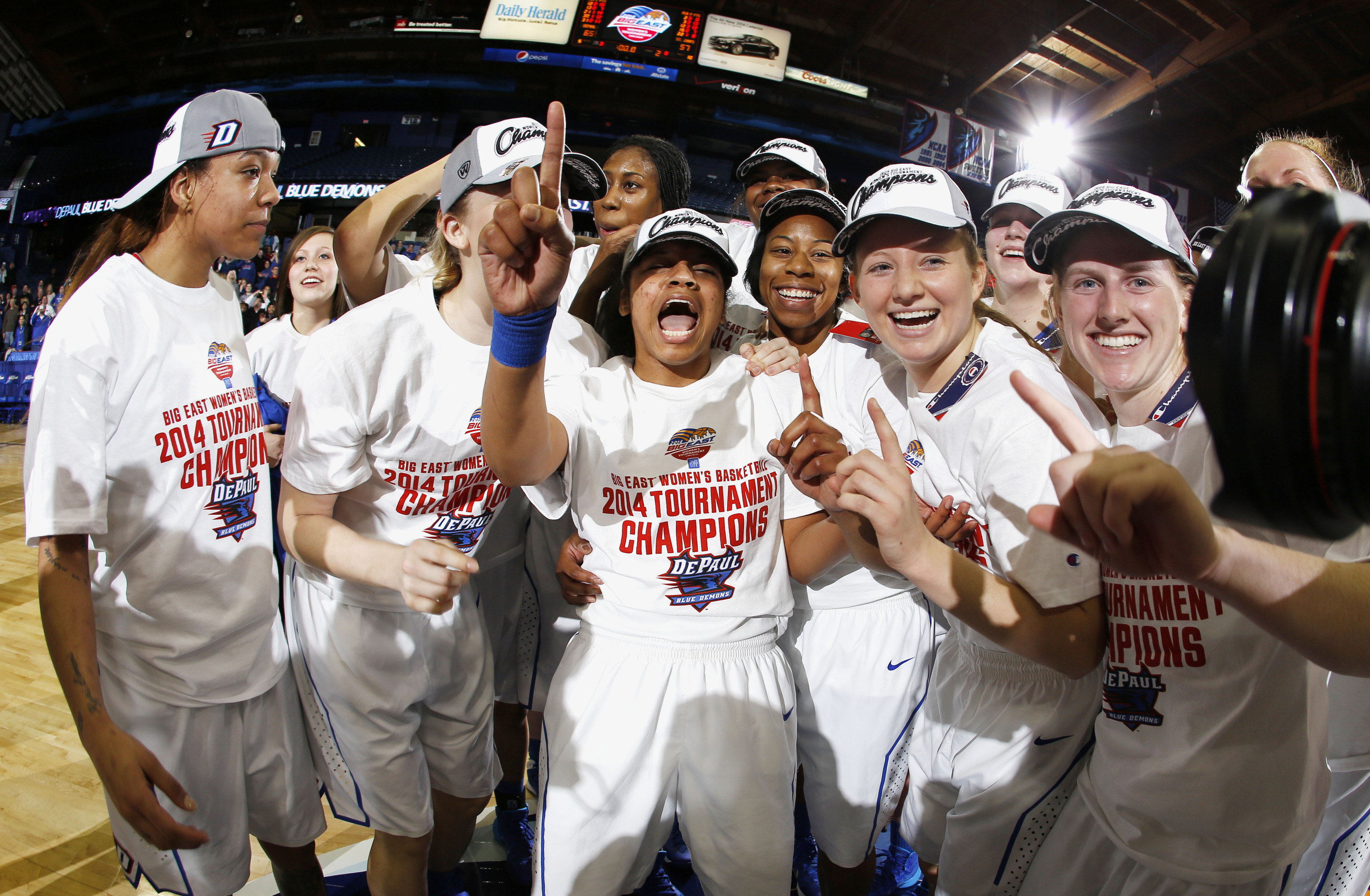 9c545cff54f Women s basketball winning the conference title was the first leg of  DePaul s BIG EAST Triple Crown