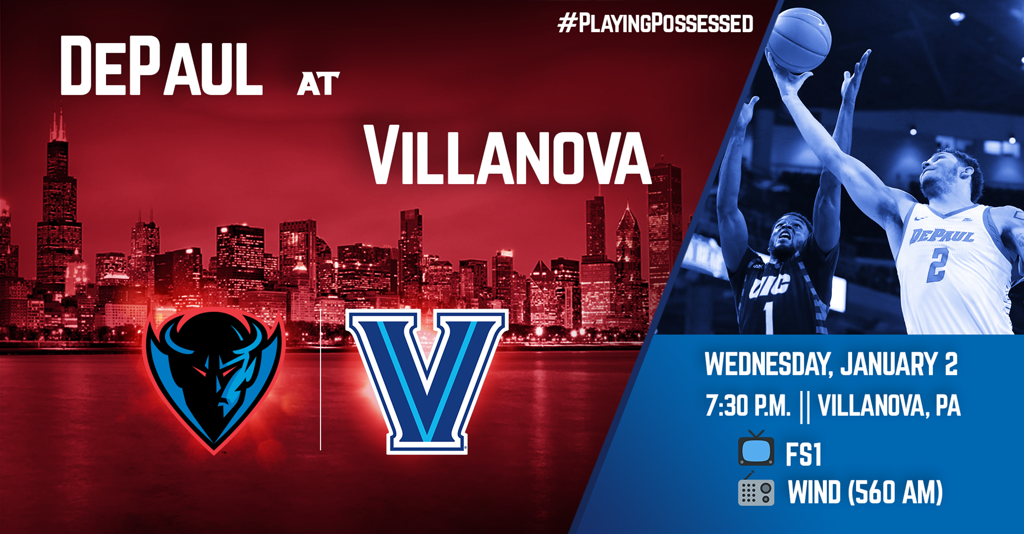 DePaul Visits Villanova on Wednesday - DePaul University
