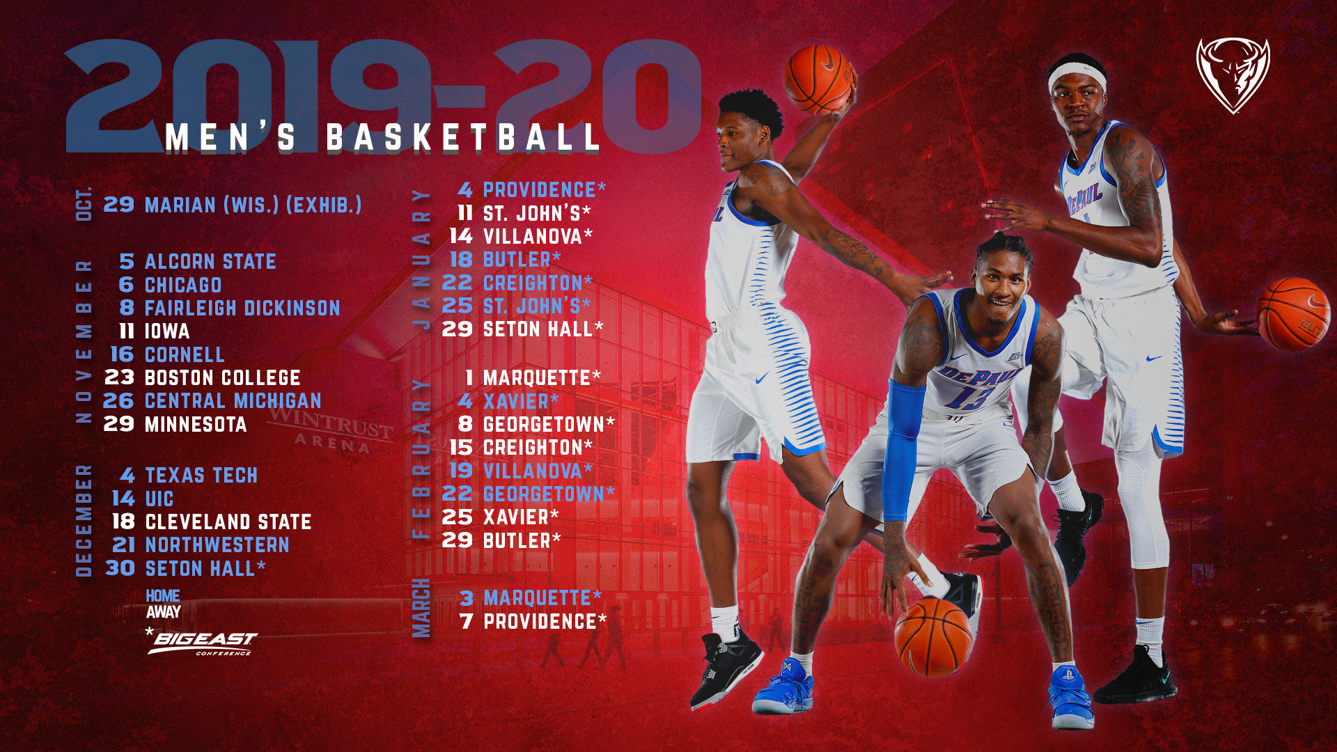 Save The Dates 2019 20 Men S Basketball Schedule Announced